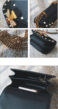 pearl studded butterfly black bag edgability detail view