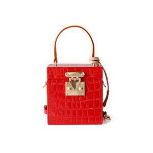 croc skin red box bag classy bag edgability