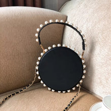 pearl studded black bag box round bag edgability full view