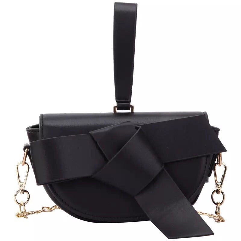 bow on black bag sling bag wristlet belt bag edgability