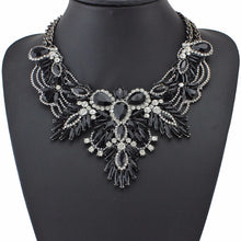 black necklace layered necklace edgability statement jewelry model view