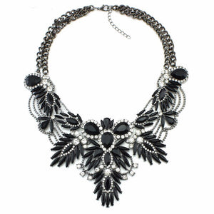 black necklace layered necklace edgability statement jewelry