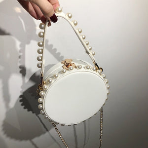 pearl studded white bag box round bag edgability size view