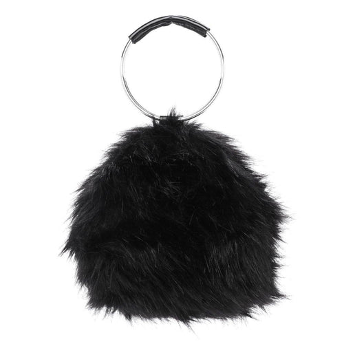 black bag fur bag round bag edgability