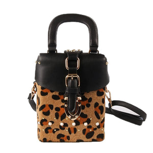 leopard bag box bag fur bag studded bag edgability