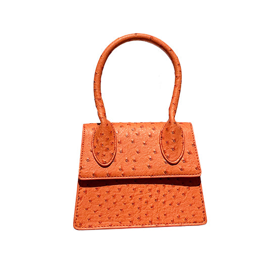 ostrich leather orange bag edgy fashion edgability