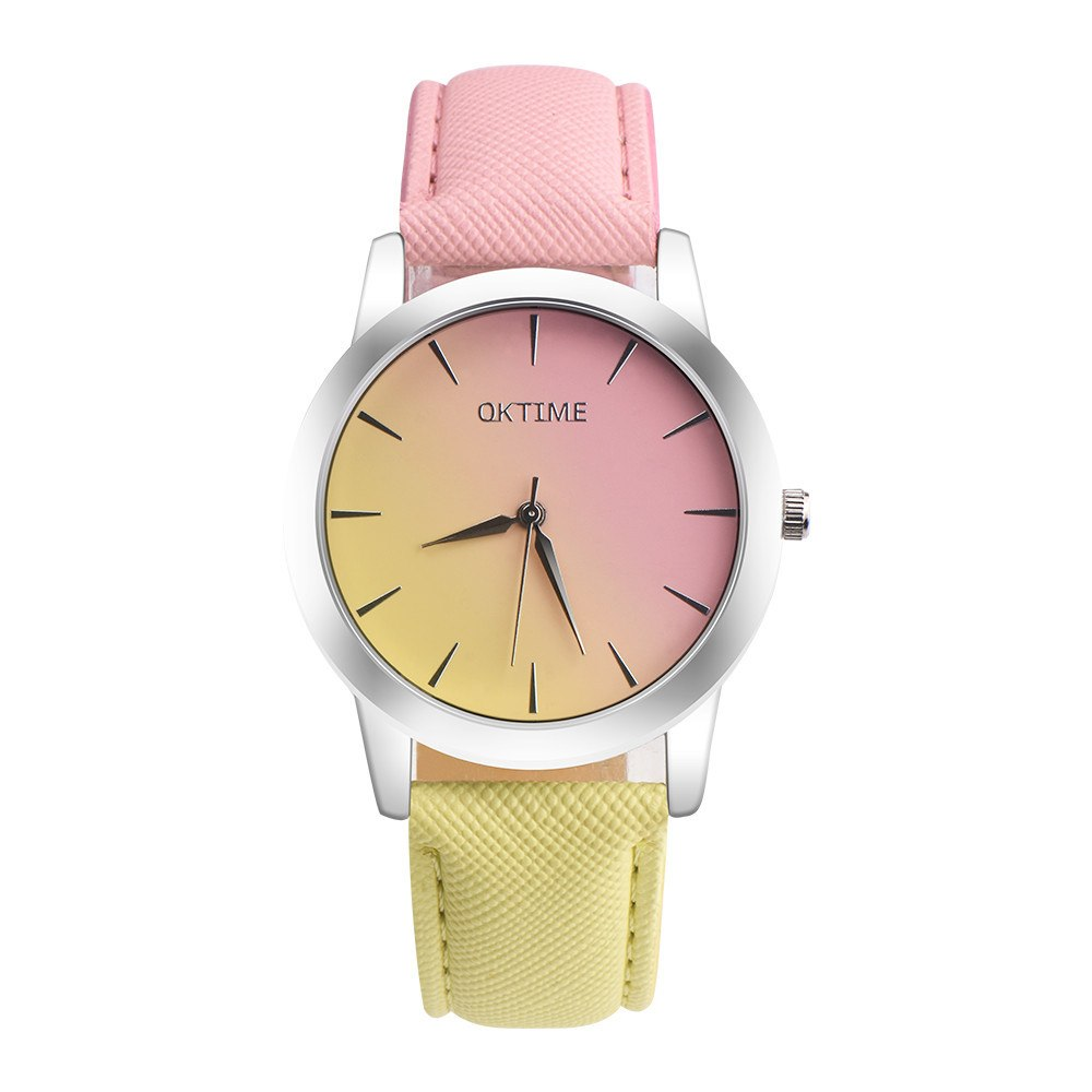 pink yellow ombre watch edgability trendy watches