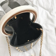 studded bag bucket bag black bag edgability top view