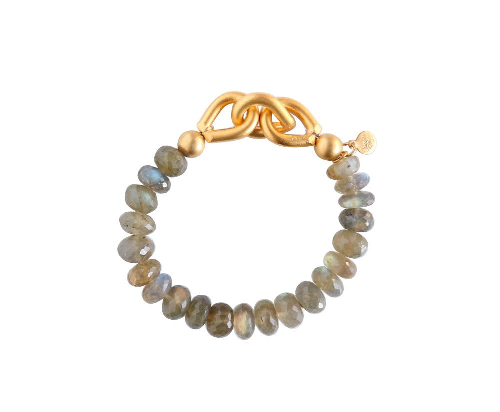 Chain Link Bracelet with Stones