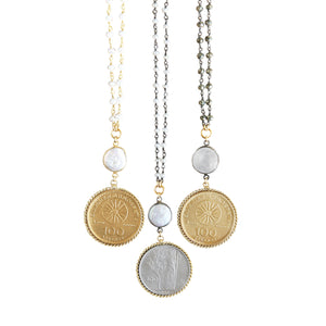 Della Coin Long Necklace
