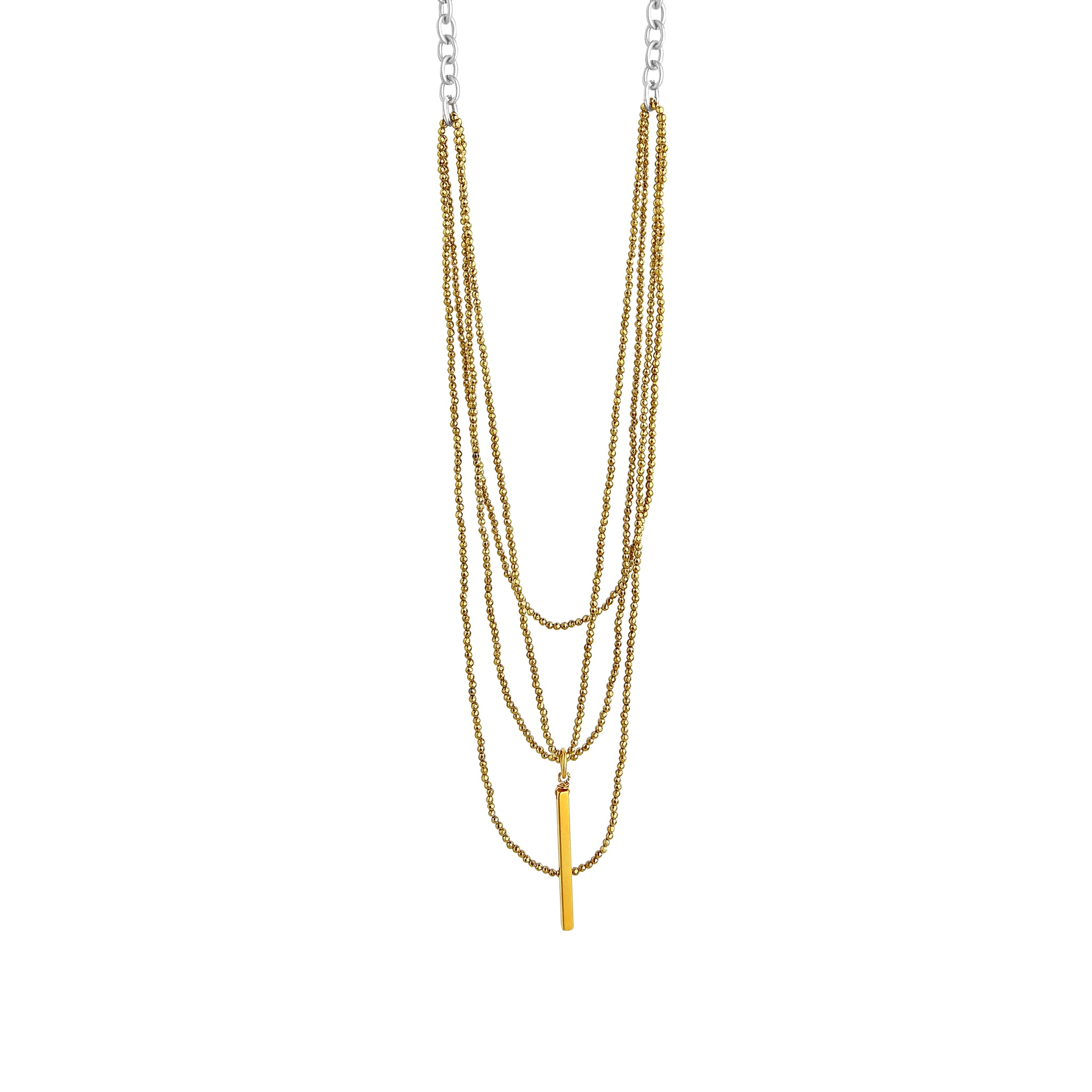 Everly Long Multi Strand Necklace