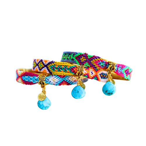Friendship Bangles in Silk Multi