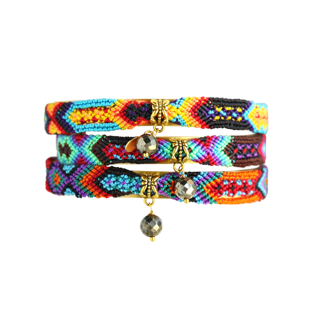 Friendship Bangles in Dark Multi