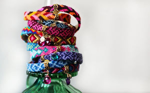 Friendship Bangles in Wool Jewel Tones