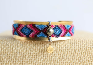 Friendship Cuffs in Wool Jewel Tones