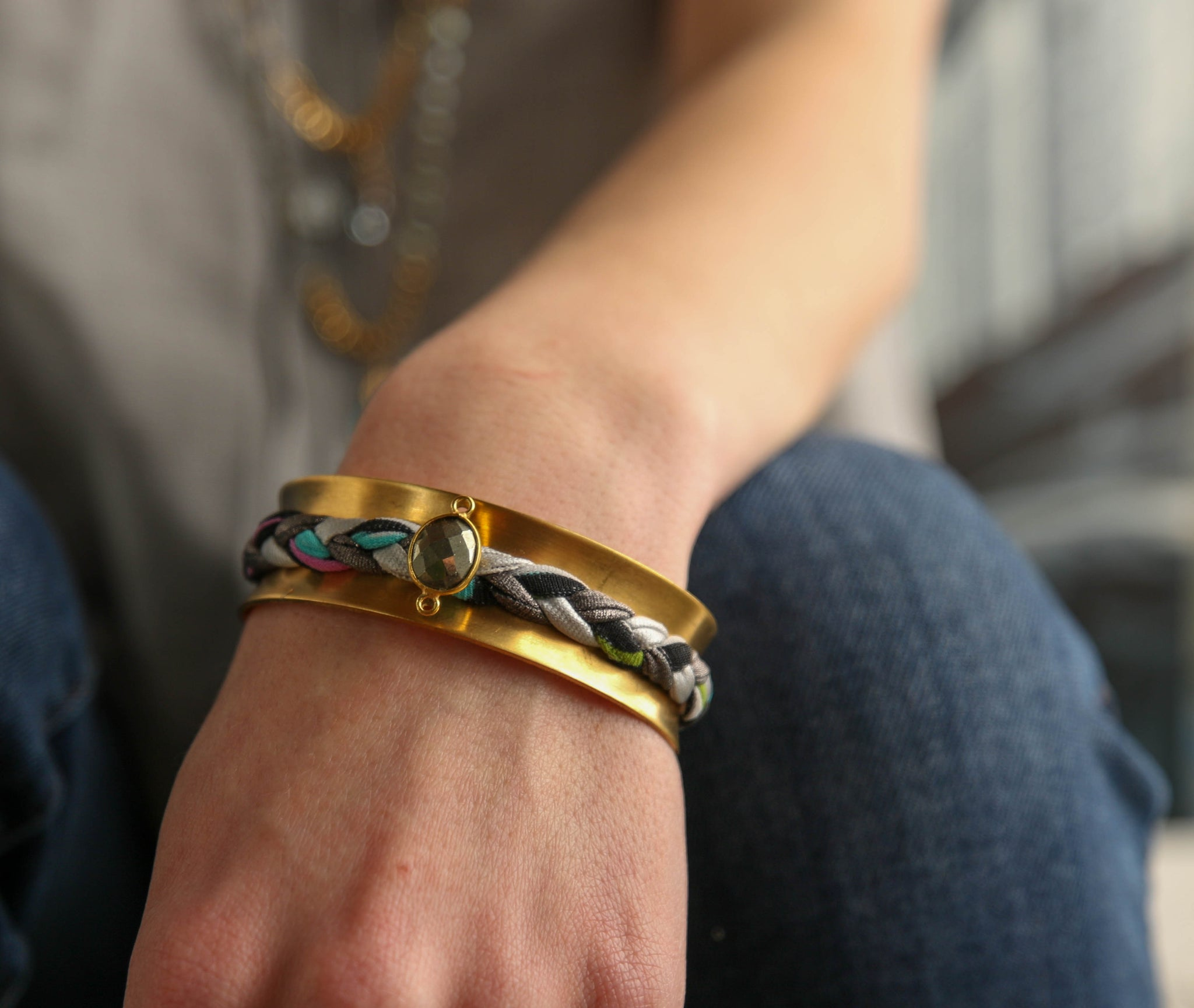 Wide Braided Cuff