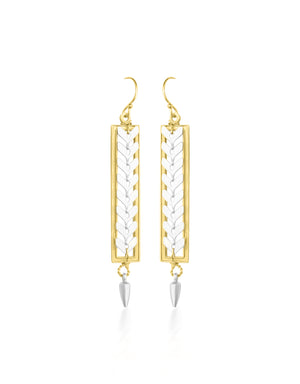 Zip Long Earrings