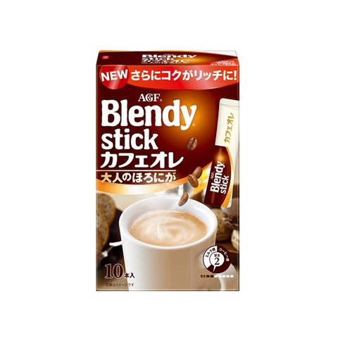AGF blendy布兰迪 微苦速溶咖啡奶茶饮料 10杯份 90g