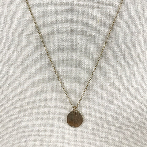 Small Gold Coin Necklace