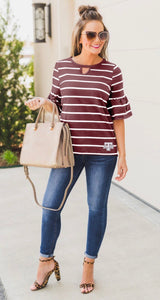 A&M Ruffle Top