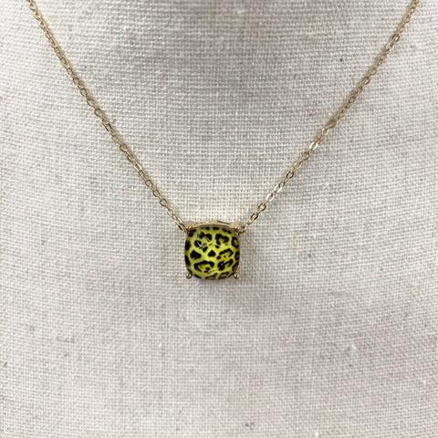 Neon Leopard Necklace