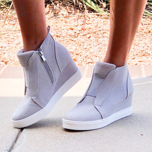 Grey Zoey Wedge