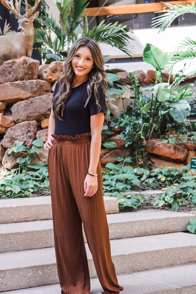 Toffee Pleated Pants