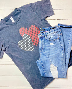 Plaid Hearts Tee