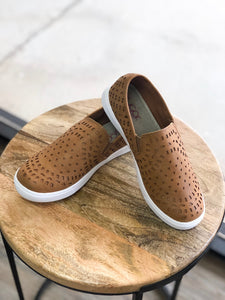 Taupe Smooth Slip On Sneaker