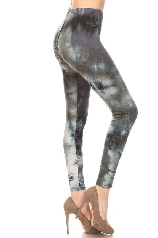 Leggings  -- Tie Dye  -- Blue - M C and J