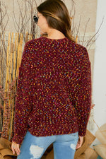 Load image into Gallery viewer, Speckled Burgundy Heavy Weight Sweater - M C and J