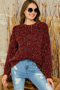 Speckled Burgundy Heavy Weight Sweater - M C and J