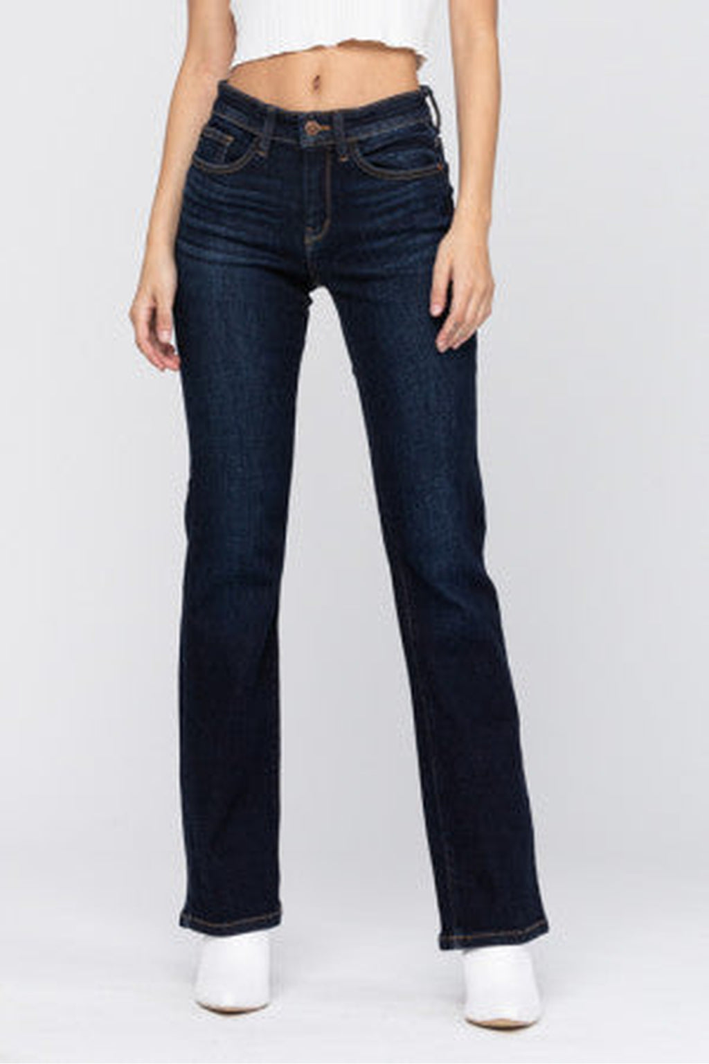 Judy Blue Whiskered Dark Bootcut Jean - 82361 - M C and J