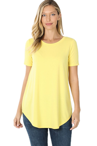 Solid Knit Top - yellow
