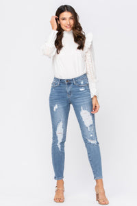 Judy Blue hi rise destructed relaxed fit - 8833