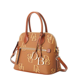Dooney Monogram Domed Satchel - Saddle - 1954SAKR - M C and J