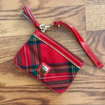 Load image into Gallery viewer, Dooney Medium Wristlet - red plaid - M C and J