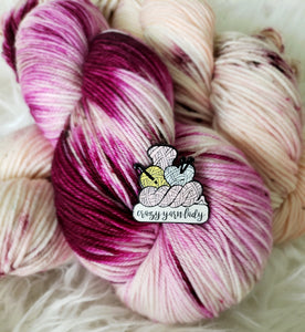 Crazy Yarn Lady Enamel Pin