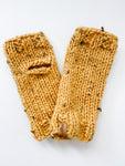 Campbell Fingerless Mitts - Mustard