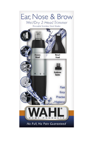 Wahl Ear, Nose, & Brow Wet/Dry 2-Head Trimmer