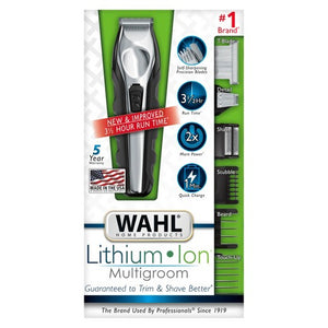 Wahl Lithium Ion Multi-Groomer Men's Beard, Facial & Total Body Groomer (110 VOLTAGE)