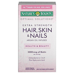 Nature's Bounty Extra Strength Hair, Skin, & Nails Argan Oil Infused