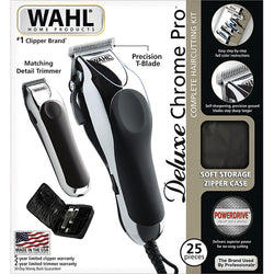 Wahl Deluxe Chrome Pro Home Haircutting Kit (120 VOLTAGE)
