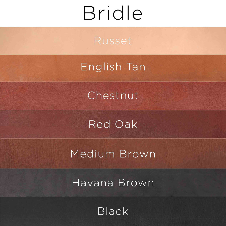 Color options for Bridle Leather