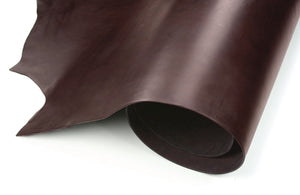 Rolled side of ChahinLeather Economy Brown Latigo