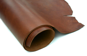 Rolled side of ChahinLeather Chocolate Holster Strap