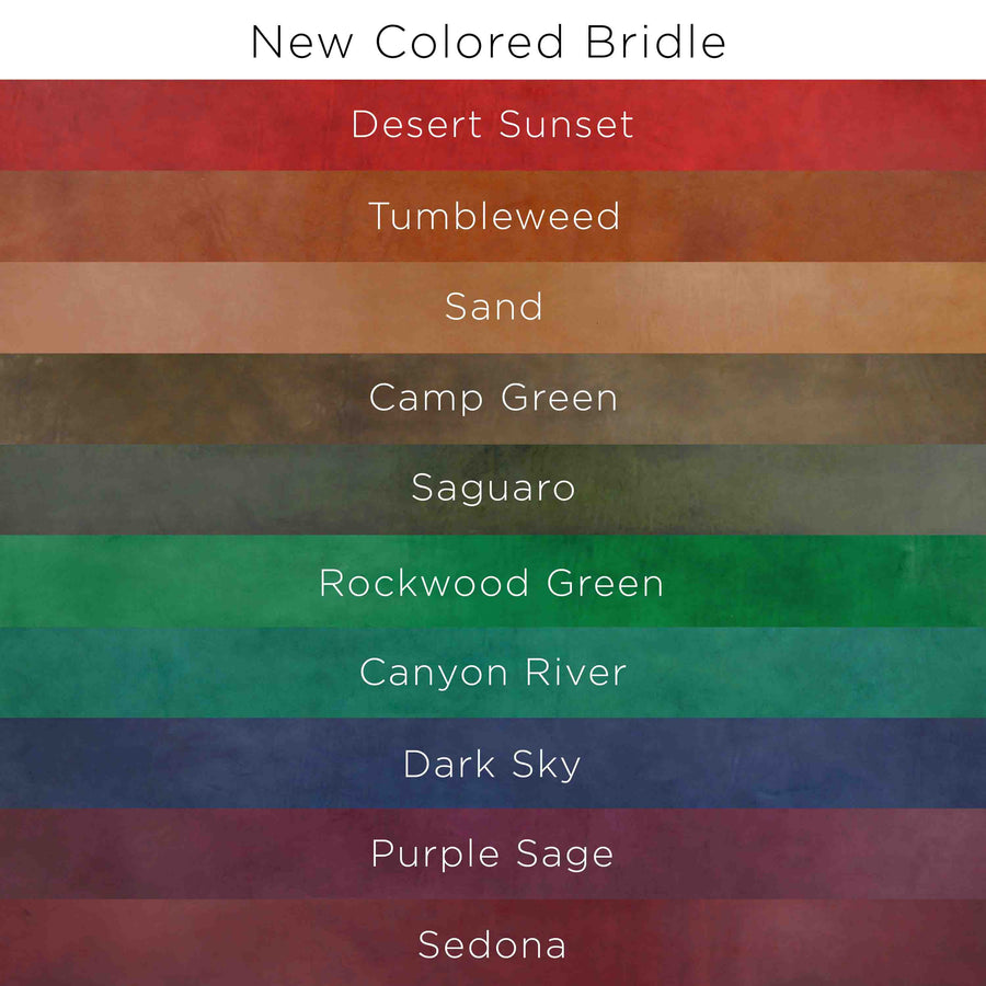 Color options for Southwestern Bridle collection