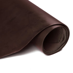 Side Roll of ChahinLeather Mahogany Skirting with Colorfast