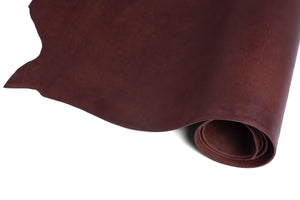 Rolled Side of ChahinLeather Burgundy Latigo