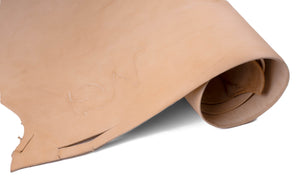 Rolled side of ChahinLeather Economy Russet Skirting